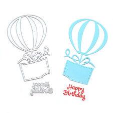 Alles Gute zum Geburtstag Heiße Ballon Schneiden Dies Stencil Scrapbook Album