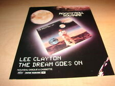 LEE CLAYTON - THE DREAM GOES ON!!!1!FRENCH PRESS ADVERT