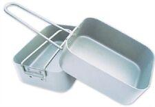 BCB cn246 impilamento Alluminio Mess Tin Set con MANIGLIE PIEGHEVOLI