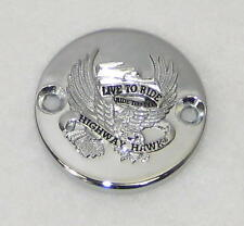 CHROME 'LIVE TO RIDE' FRONT BRAKE MASTERCYLINDER COVER FOR KAWASAKI VN750 VULCAN