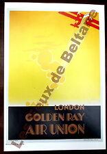 Affiche repro Air Union Golden ray  Paris London