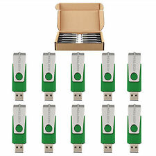 10 Pack 2GB Swivel USB 2.0 Flash Drive Rotating Memory Stick Metal Thumb U Disk
