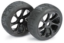 1/8 Scale On Road Wheels & Street Tyres Black 1/8th Scale Buggy 7 Spoke 17mm Hex