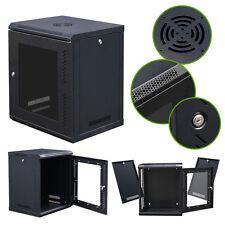 12U Wall Mount Network Server Data Cabinet Enclosure Rack Glass Door Lock