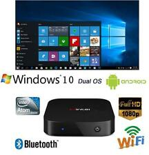 4.4 2GB/32GB Smart TV Box Mini PC Intel Quad Core Dual OS Windows 10 & Android