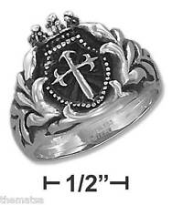 MENS STAINLESS STEEL ST. JAMES CROSS  RING SIZE 9 10 11 12 13 14