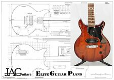 Luthiers Project Plan/Drawing for Gibson Les Paul Junior Double cut  P044