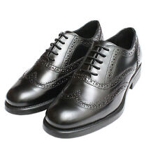 *NEW* Ladies Black Oxford Brogue Shoes 4 Euro 37 Womens Leather Rubber Sole