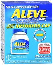 Aleve Gelcaps Easy Open Arthritis Cap 40 Gelcaps (Pack of 3)