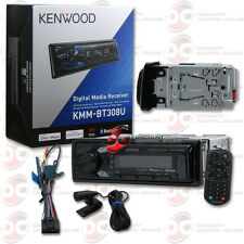 KENWOOD KMM-BT308U 1DIN CAR AUDIO DIGITAL MEDIA W/ BLUETOOTH & PANDORA CONTROL