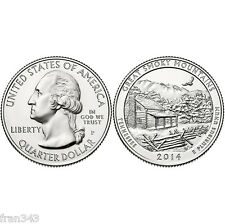 ESTADOS UNIDOS USA quarter dollar 2014 GREAT SMOKY MOUNTAINS PHILADELPHIA - UNC