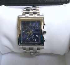 CYMA IMPERIUM LE LOCLE QUARTZ CHRONOGRAPH BLUE DIAL SAPPHIRE CRYSTAL SWISS MADE