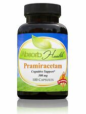 Absorb Health Pramiracetam Cognitive Support Herbal Supplement, 300mg-70 Count