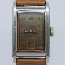VINTAGE 1930's Omega Marine Standard Mens Steel Early Waterproof Watch CK3635