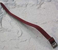 LAST ONES! Maroon braided nylon 12mm vintage watch strap 1960s tropical type