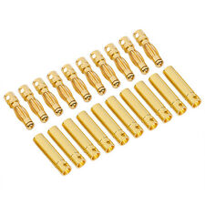 10 Pairs 4mm Male & Female Bullet Connector Banana Plugs Adapter For RC Battery