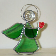 I Love my Soldier Lapel Pin U.S. Army New Stained Glass Angel Made in America
