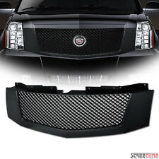 Matte Blk Bentley Mesh Front Hood Bumper Grill Grille Replacement 07-14 Escalade