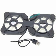 2 Fans Mini Portable USB Cooler Cooling Pad For Laptop Notebook PC