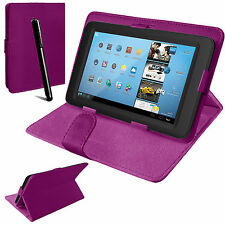 Universal Leather Stand Folding Folio Case Cover Pouch For 7 & 8 Inch TabletsTab
