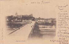 GIEN pont sur la loire timbre noir 10 cent. 1901