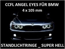 CCFL Angel Eyes Kit Neon Standlichtringe 105mm WEIß SET BMW E36 E38 E39 E46 E90