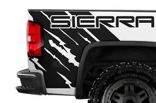 Vinyl Graphic Decal Wrap Kit for 14-17 GMC SIERRA Rear Quarter Panel MATTE BLACK