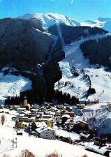 Wintersportplatz Saalbach, Ansichtskarte , 1975 gelaufen