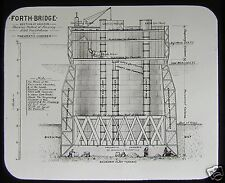 RARE VICTORIAN Glass Magic Lantern Slide THE FORTH BRIDGE CONSTRUCTION NO6 1889
