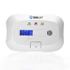 SUNLUXY LCD Display CO Gas Carbon-Monoxide Monitor Detector  Alarm System Sensor