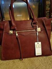 NWT Urban Expressions Burgundy Virgo  Leather Satchel Shoulder Bag MRSP $110