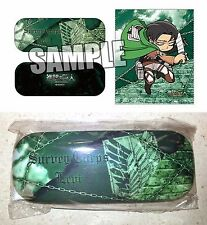 Attack on Titan Glasses Case & Cloth Set LEVI Broccoli Kodansha Licensed New