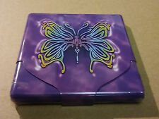 Nulite Butterfly Purple Metal Flat Profile King Size Cigarette Case