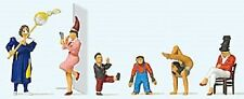 HO Preiser 20265 CIRCUS / CARNIVAL ARTISTS with BOBO the CHIMP  3Q Figures