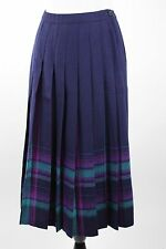 PENDLETON Women's Size 10 Petite Blue Plaid Tartan Wool Pleated Modest Skirt