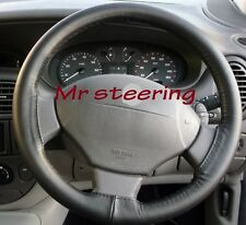 TOP QUALITY BLACK ITALIAN LEATHER STEERING WHEEL COVER FOR RENAULT TWINGO MK1