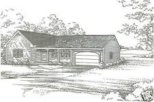 2 Bdrm 1 1/2 Bath 1440 SF / 2 Car Garage Ranch Style House Design Building Plans