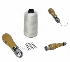 Quick Speed Stitch Sewing Awl Canvas Flag Tent Repair Tool Set Kit White Thread