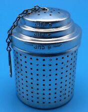 """Vintage Large 3"""" Tea Stainer Infuser Aluminum Metal  Makes 2 - 6 Cups GUC"""
