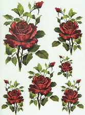 Ricepaper / Decoupage paper, Scrapbooking Sheets Red Roses
