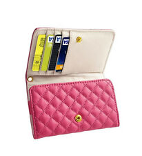 Luxury Leather Flip Wallet Phone Case Cover for Iphone 4S Pink Women