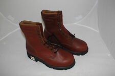 WESTERN CHIEF BROWN RED LEATHER RUBBER SOLES MENS HIKING WORK BOOTS 7 W EEE