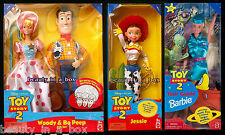 Woody and Bo Peep Gift Set Jessie Tour Guide Barbie Doll Disney Toy Story 2 Dent