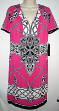 NWT JONES NEW YORK Women's Tunic-Style Jersey Dress, Size 6, Pink, MSRP $134