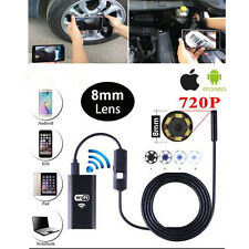 For Android iPhone WIFI Endoscope Waterproof Borescope Inspection Camera 6LED