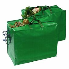 Christmas Xmas Lights Baubles & Decorations Storage Bag Sack With Carry Handle