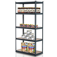 "71"" Storage Rack Heavy Duty 5 Tier Adjustable Shelf Garage Organizer Metal"