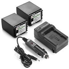 For Canon BP-819 BP-808 BP-809 VIXIA HF20 HF10 HF100/ 2x BP-827 Battery+ Charger