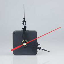 Noiselessness Black Quartz Clock Movement Mechanism Repair DIY Tool Kit+Red Hand