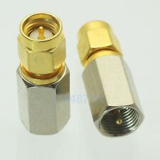 1pce Adapter FME plug male to SMA male RF connector straight